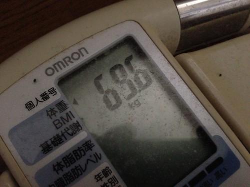 本日70kg台を突破!