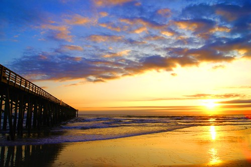 ocean morning sea sun beach nature water clouds sunrise landscape pier florida places