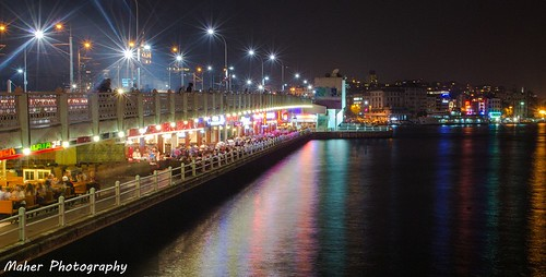 Golden Horn at Night - Istanbul