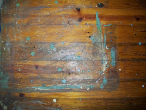 Dried paint off hardwood floors any ideas unclutterer for How to get paint off wood floors