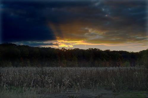 columbus sunset sky clouds evening indiana hdr graduated