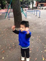 恵比寿公園でラジオ体操 (2012/10/19)