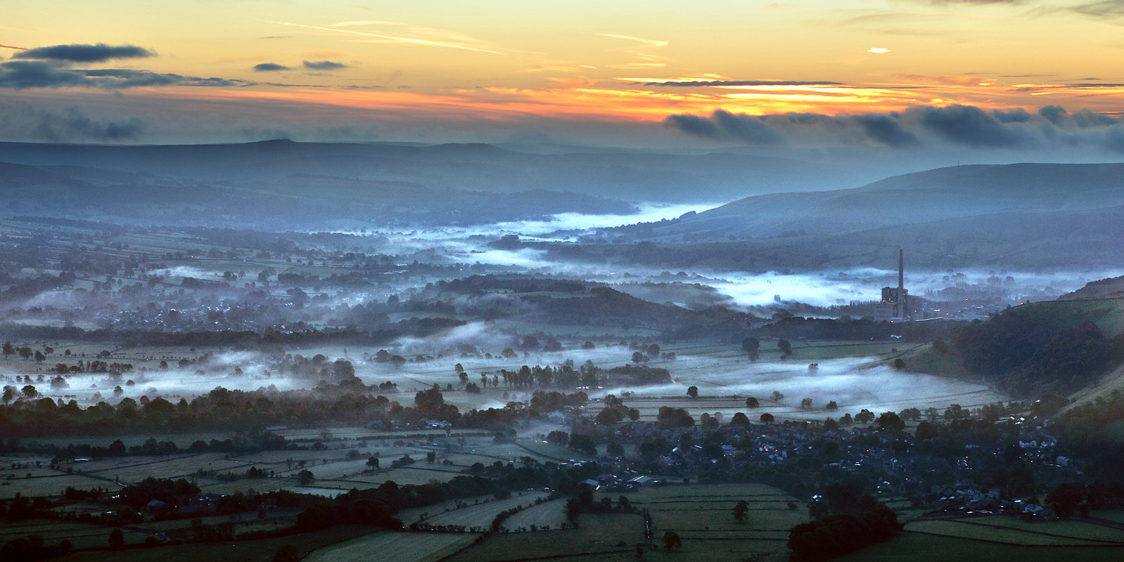 peak district sunrise landscape