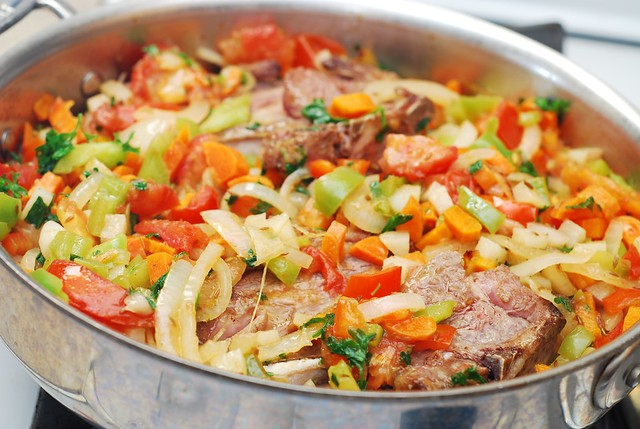 add lamb back to the stew
