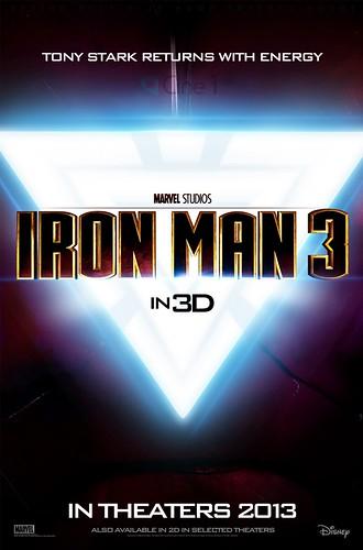 121022(4) – 3D立體好萊塢電影《IRON MAN 3》(鋼鐵人3)第一支預告片的預告片(笑)、首張宣傳海報同步公開!