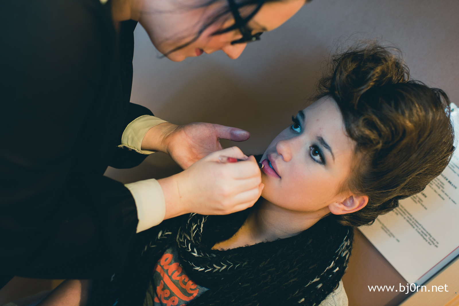 Backstage - Fashion show at Solsiden Senter - October 2012