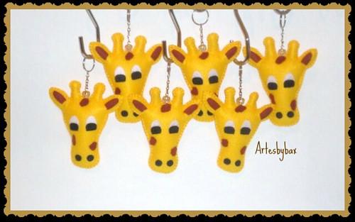 Chaveiros girafas by artesbybax - Carmen