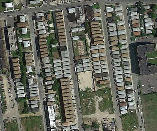 Rockaway bungalows from above (via Google Earth)
