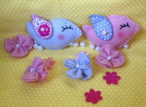 Passarinho em feltro by Cute for Baby by Mirian Rezende