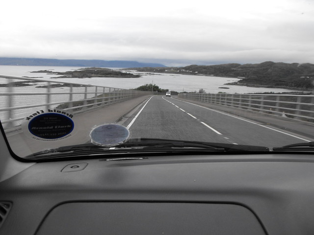 Coming back over the Skye Bridge.