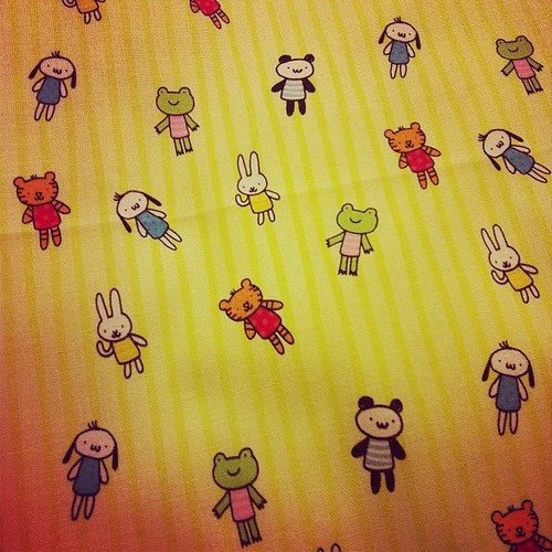 My animals on stripes from Spoonflower!
