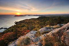 Autumn sunrise at Sugarloaf Mountain Marquette, Michigan by Michigan Nut