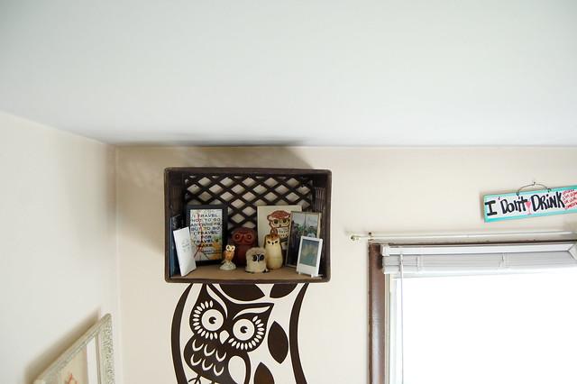 Vintage Milk Crate Shelf