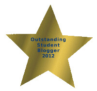 Outstanding Student Blogger 2012#2