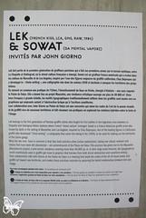 John Giorno x Lek X Sowat - Palais de Tokyo