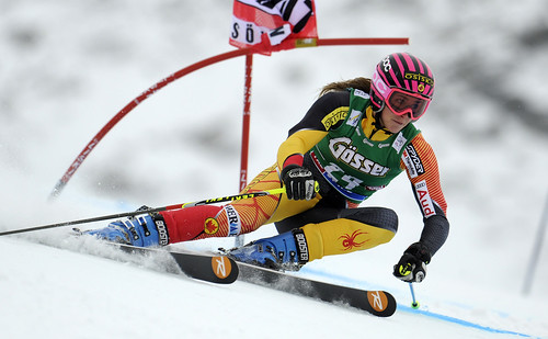 Marie-Michèle Gagnon at the World Cup giant slalom in Soelden, Austria.