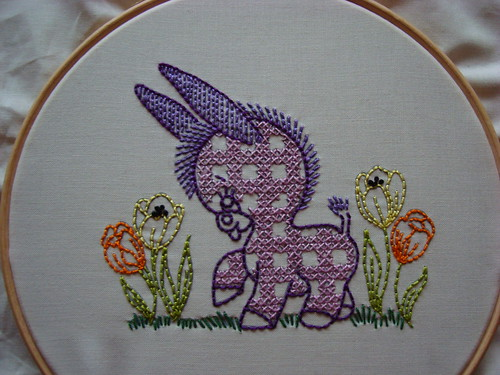 Donkey embroidery