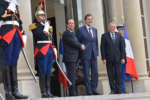 Hollande y Rajoy en Paris