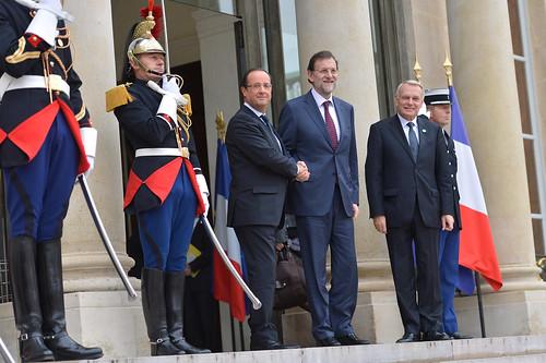 Hollande y Rajoy en Paris