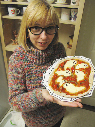 Halloween 2012 ghost pizza.