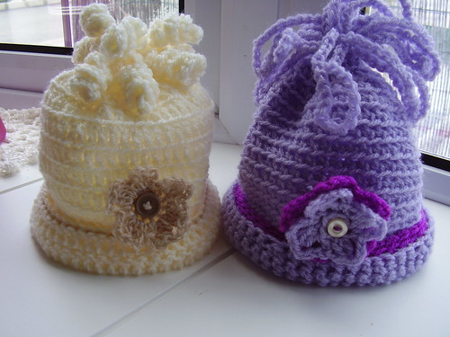 Child's Beanie with Special Topping by CrocKnits