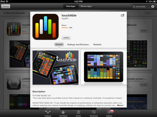 touchable ipad midi controller apps for music composition 2012 11 03 sml screenshots. Black Bedroom Furniture Sets. Home Design Ideas
