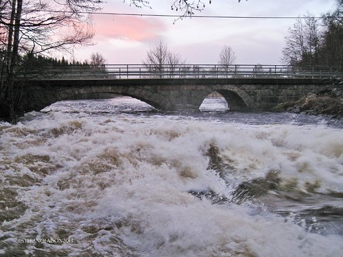 bridge winter rio stone river puente vinter whitewater å invierno bro sten cascada piedra fors svenljunga borås åtran forsakvarn