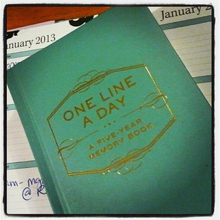 Finally started one of these! #onelineaday #5yearmemorybook #memories #writing