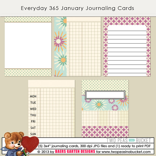 Everyday 365 January Journaling cards