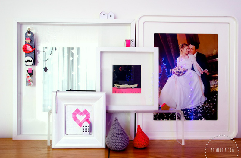 frames, art and photos on my dresser
