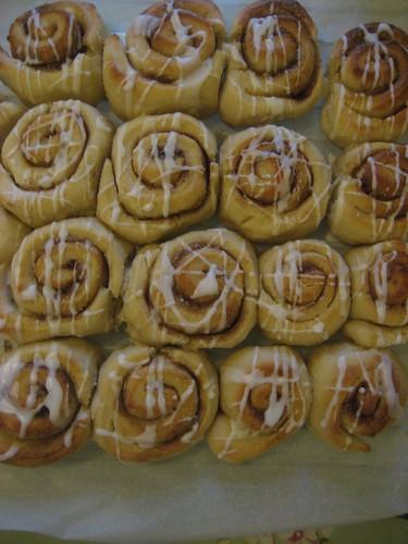 Cinnamon rolls for Cam