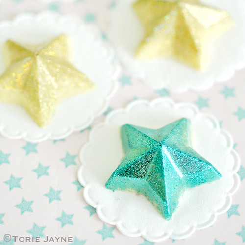 Chocolate glittered stars