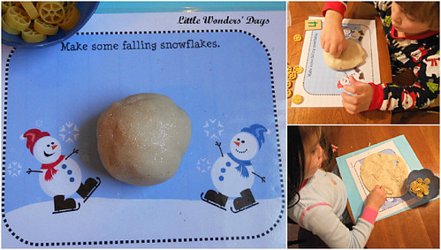 Glittered Peppermint Winter Play Dough (Photo from Little Wonders' Days)
