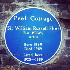 Photo of William Russell Flint blue plaque