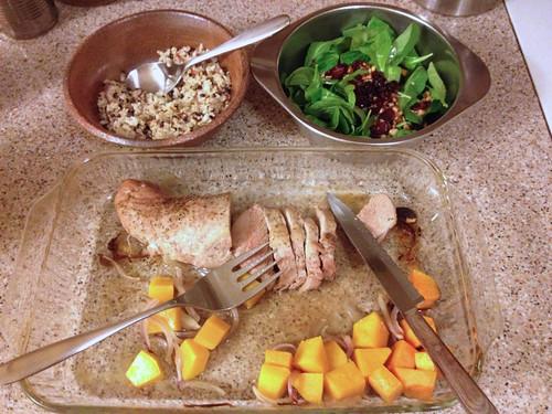 Greenling pork meal - YUM!