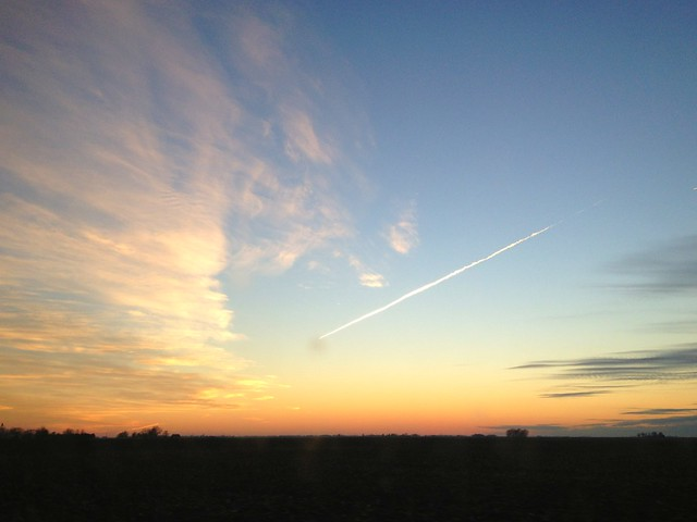 Happy Trails #sky #sunset