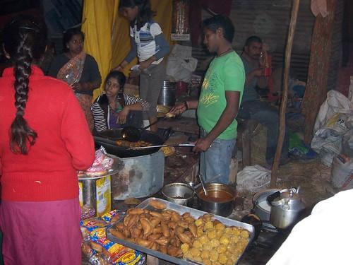 A small eatery at the Kumbh Mela