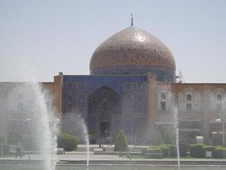 Palácio Ali Qapu na Praça Imam em Esfahan