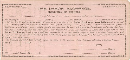 Labor Exchange obligation of members (front)