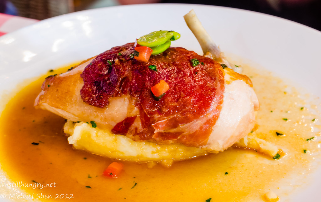 Casa Di Nico - chicken saltimbocca - prosciutto wrapped chicken breast on potato purée w/broad bean & sage