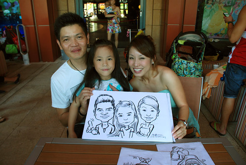 caricature live sketching for Mark Lee's daughter birthday party - 16