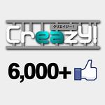 Creazy!のFacebookページが6000いいね!到達