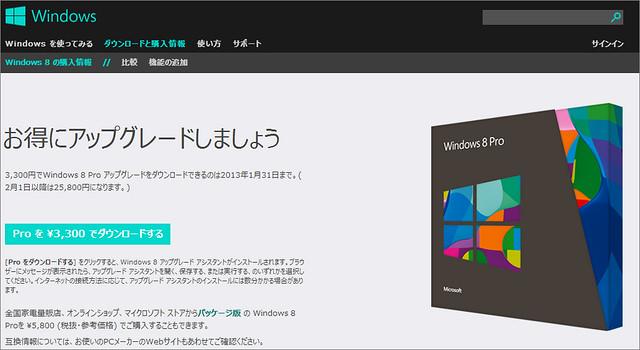 Windows8Pro値上がり