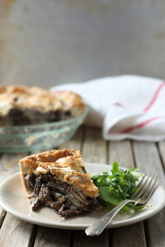 Wild Mushroom Pie with Parmesan Crust - Completely Delicious