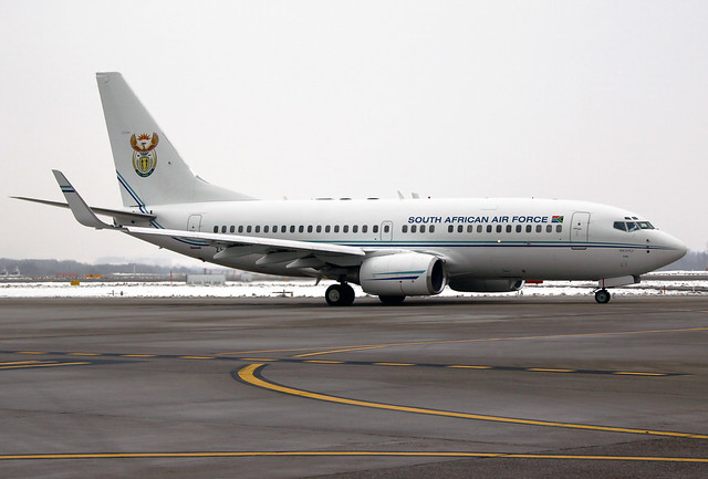 South Africa current Presidential Jet  a Boeing BBJ