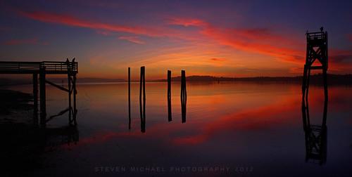 sunset oregon pacificnorthwest oregoncoast coosbayoregon oregonsunset stevenmichaelphotography