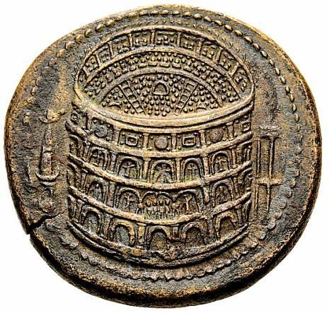 Moneda con el Coliseo