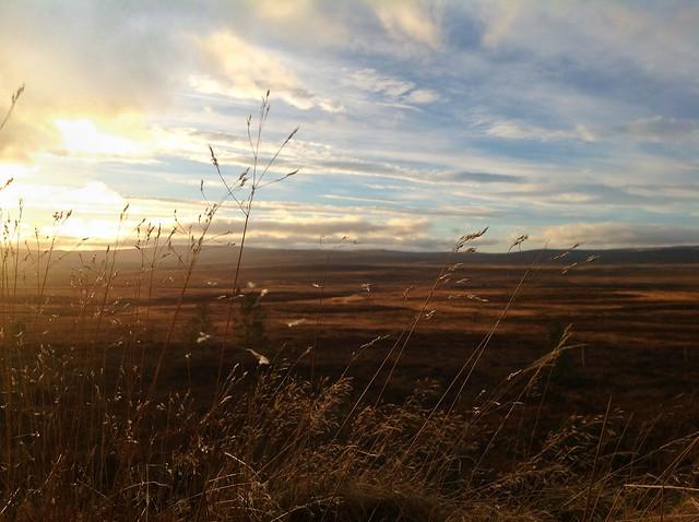 Scottish Highlands at sunset