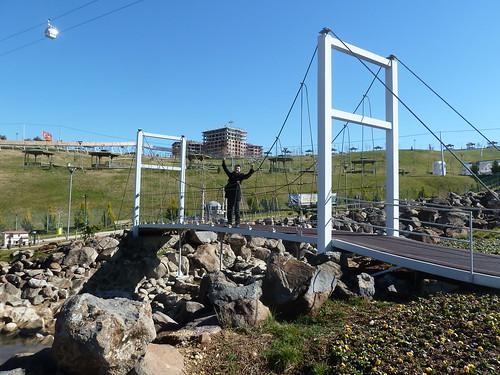 Ekrem stands on a miniature Bosphorus Bridge by mattkrause1969
