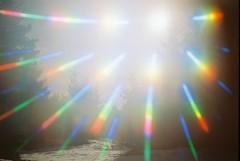 sunlight, light, laser, blue, lens flare,
